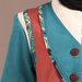 Abaya Modern Tosca Terracotta - detail b