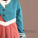 Abaya Modern Tosca Terracotta - detail a