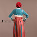 Abaya Modern Tosca Terracotta - belakang