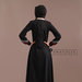 Abaya Cantik Elegan Hitam - belakang