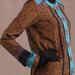Abaya Modern Coklat - detail a