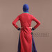 Abaya Dress Merah Ungu - belakang