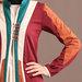 Jubah Abaya Modern Maroon - detail a