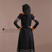 Abaya Dress Hitam - belakang