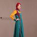 49 Abaya Dress Bordir Tosca - kanan