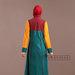 49 Abaya Dress Bordir Tosca - belakang