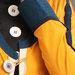 63 Jubah Abaya Modern Kuning - detail a