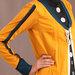 63 Jubah Abaya Modern Kuning - detail b