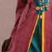 64 Jubah Abaya Modern Maroon Hijau - detail a
