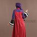 74 Abaya Modern Merah Ungu - belakang