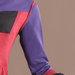 74 Abaya Modern Merah Ungu - detail