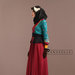75 Abaya Dress Bordir Maroon - kiri