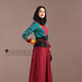 75 Abaya Dress Bordir Maroon - kanan