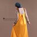 82 Abaya Modern Kuning - belakang