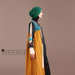 93 Abaya Modern Kuning Motif - kanan