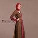 94 Abaya Cantik Elegan Coklat - kanan