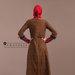 94 Abaya Cantik Elegan Coklat - belakang