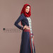 96 Abaya Dress Navy - kanan